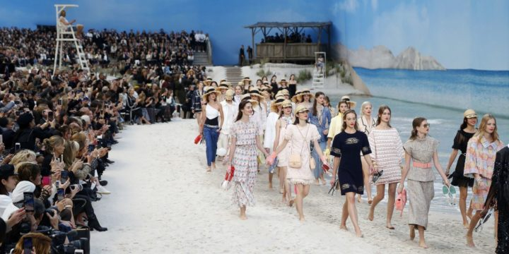 Chanel Brings The Beach Indoors For The Spring-Summer 2019 Runway Show