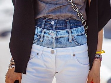 Layered Jeans Are Fashion Forward